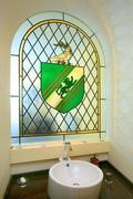 Peamore House leaded window in bath
