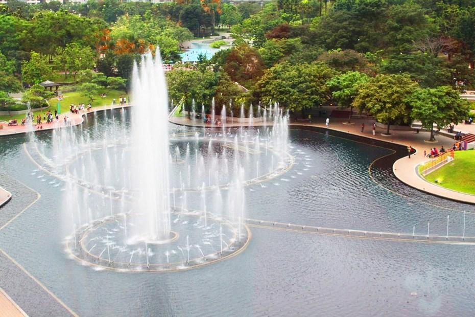 吉隆坡景觀·雙子塔城中公園