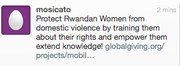 Twitting Protect 815 Rwandan Women From Domestic Violence