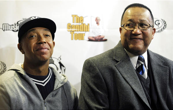 Russell Simmons and Dr. Benjamin Chavis Jr. at M4P / Sundance