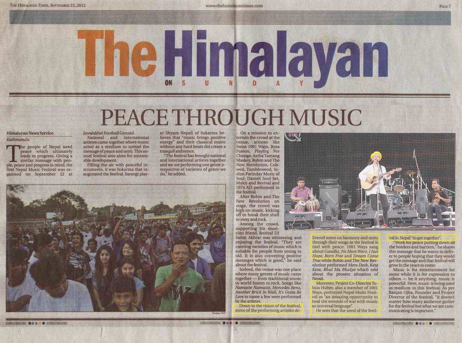 Peace through Music - The Himalayan Times