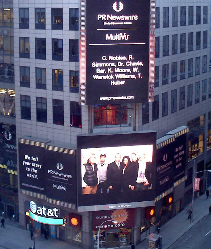 Music 4 Peace at Time Square New York (PR News)