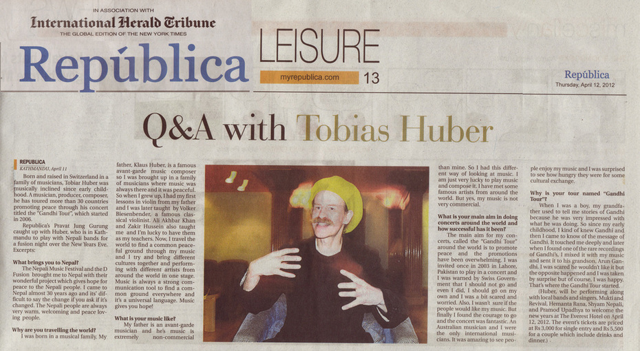 Q&A with Tobias Huber Republica International Herald Tribune