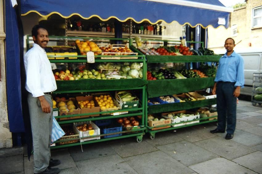Myddleton Road Tsegai and Solomon at Red Sea Supermarket