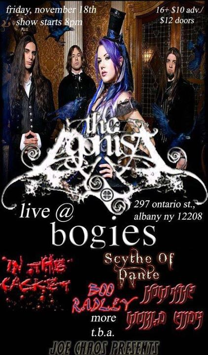 The Agonist flier Nov 18th 2011