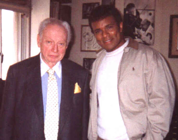 Christopher with the late Isaac Stern