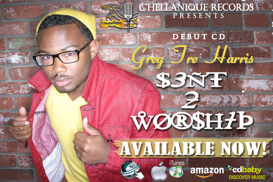 "official promo card for My cd ""Sent 2 Worship"