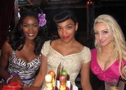 Angelique Noire (in Vamp Dress) , Ashleeta, and Natasha (in Niagra Dress)