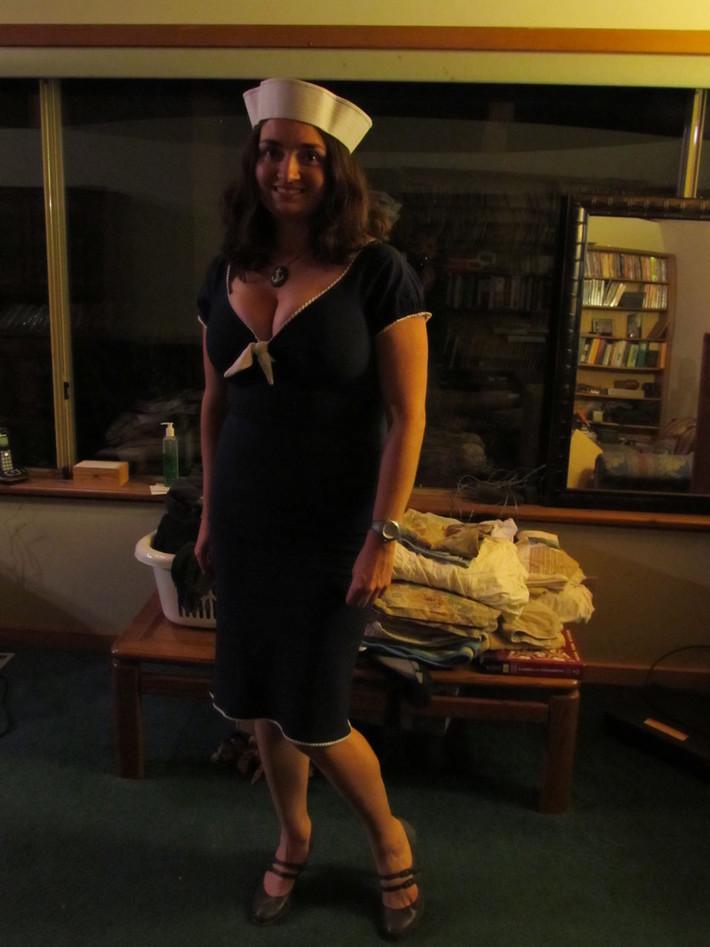Navy Natalie halloween xl