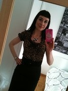 Deadly Lace top in Leopard print knit