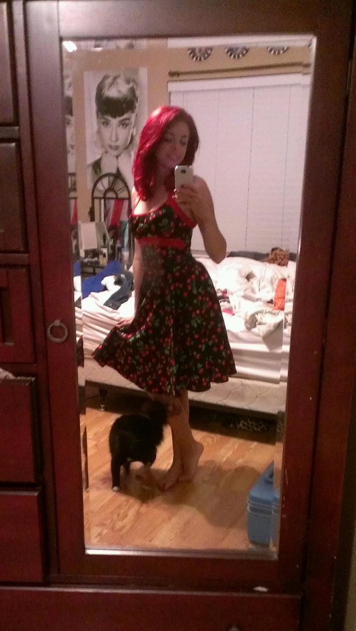Cherry Print Daisy Swing Dress
