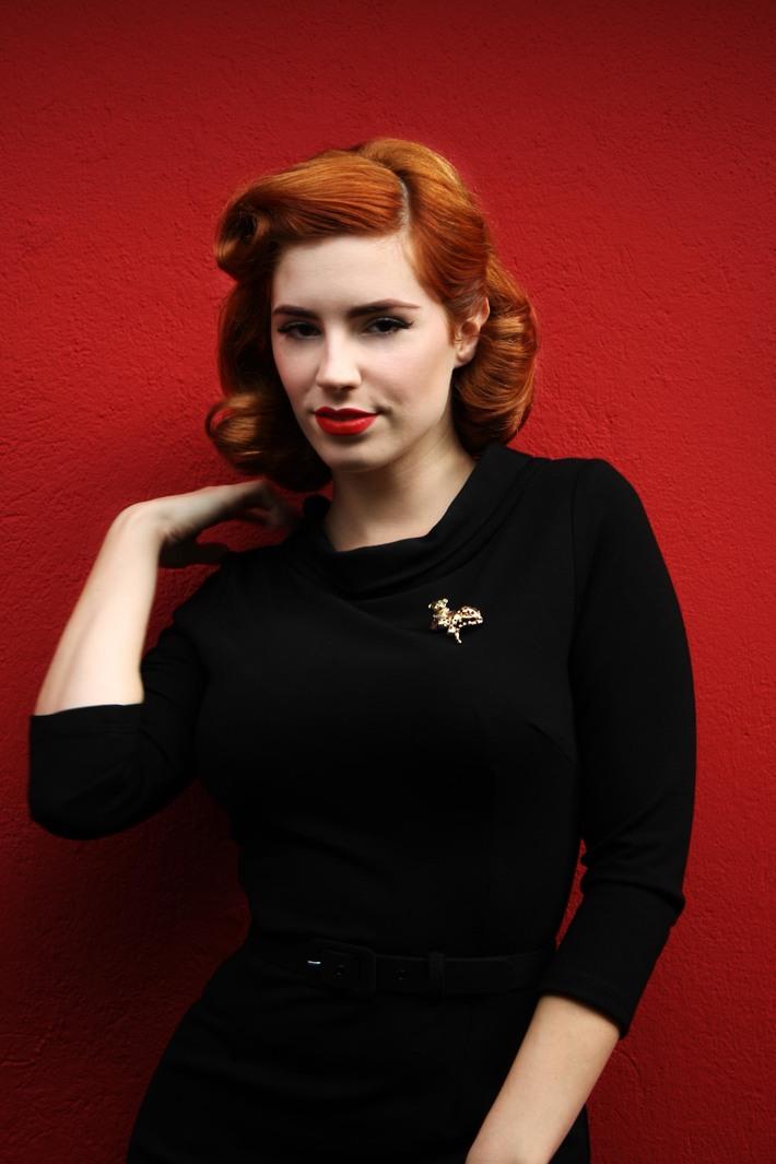 Laura Byrnes Joanie Dress black