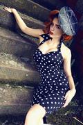 Deadly Dames Polkadot Wiggle Dress black