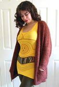 Tahitia's I Am C3P0 Tunic with a Long Sweater