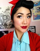 Growing out bettie bangs