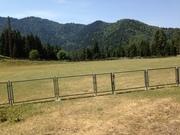 აგვისტოს მინდორი და მწვანე მთები
