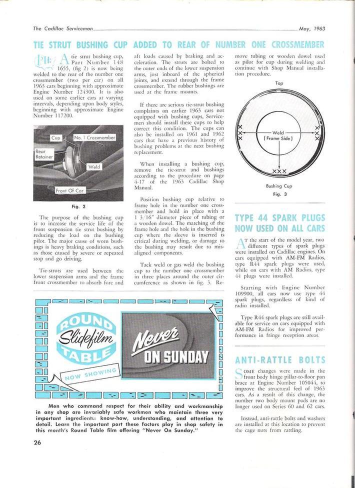1963 Cadillac Serviceman pg26