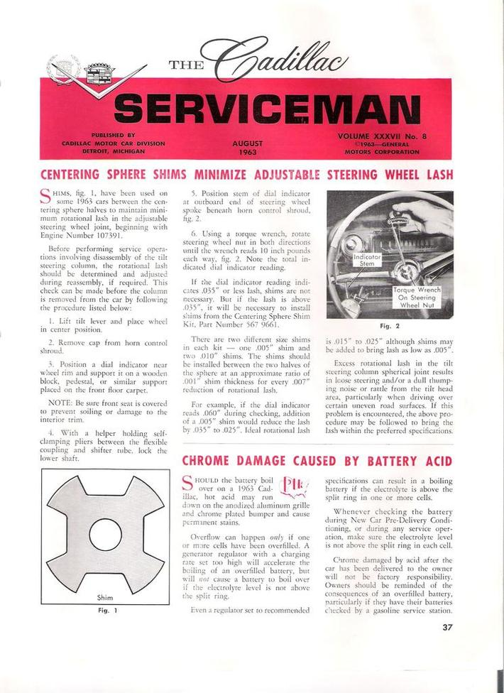 1963 Cadillac Serviceman pg37