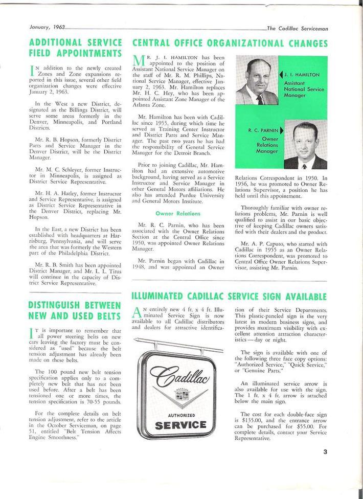 1963 Cadillac Serviceman pg3