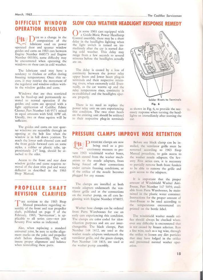 1963 Cadillac Serviceman pg15