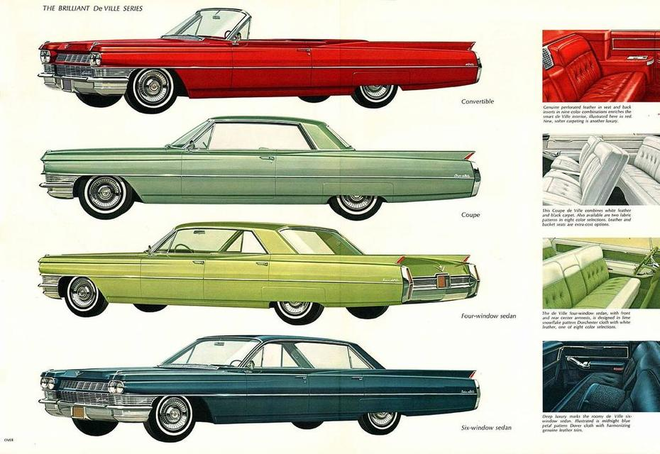1964 Cadillac Brochure Page 11Foldout