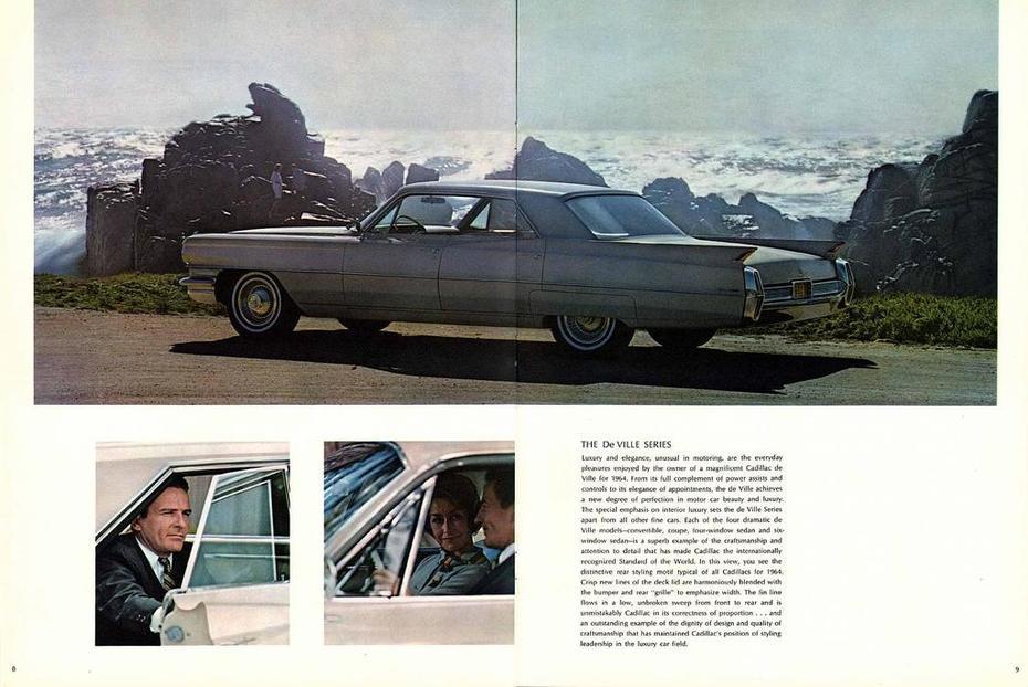 1964 Cadillac Brochure Page 8-9