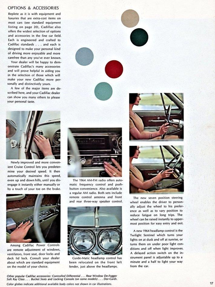 1964 Cadillac Brochure Page 17