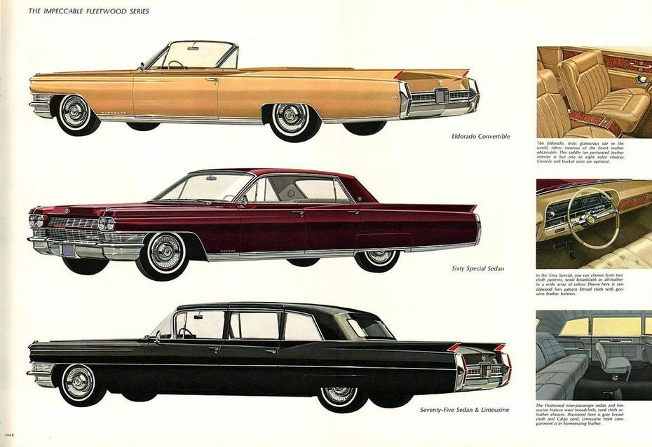 1964 Cadillac Brochure Page 15Foldout