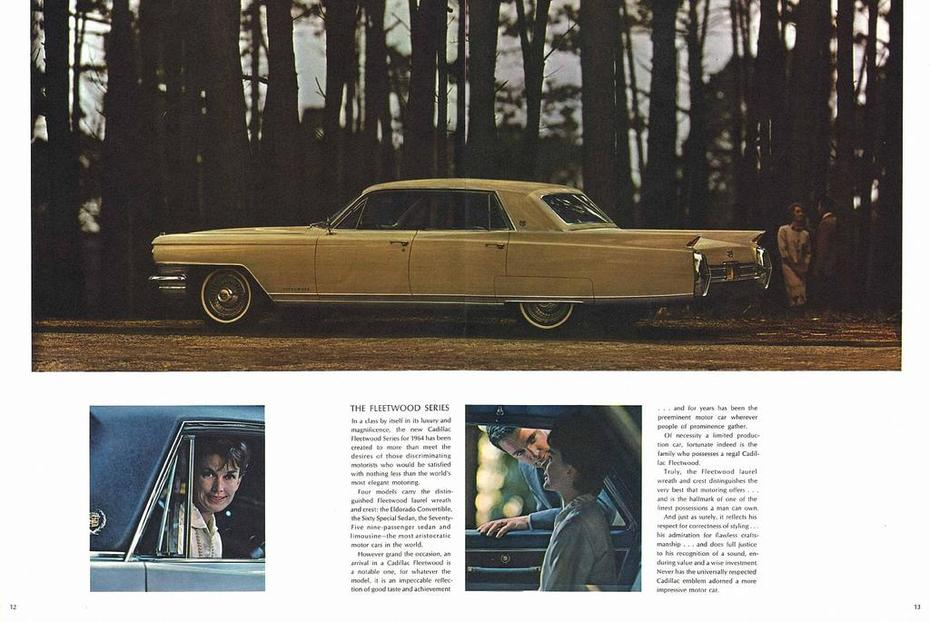 1964 Cadillac Brochure Page 12-13