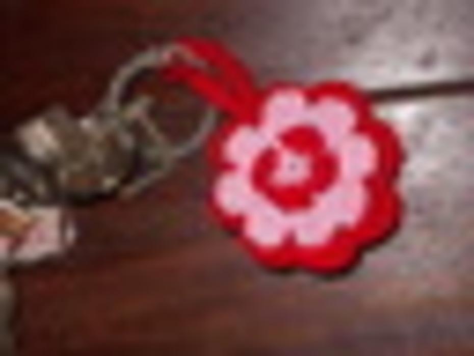 Schlüsselanhänger Blume