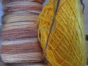 2 Fäden für die Wolle