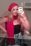 Rotes Winterset