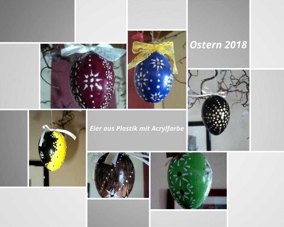 Ostereier mit Acrylfarbe bemalt