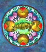 Animal Mandala challenge - January - Sea Turtle