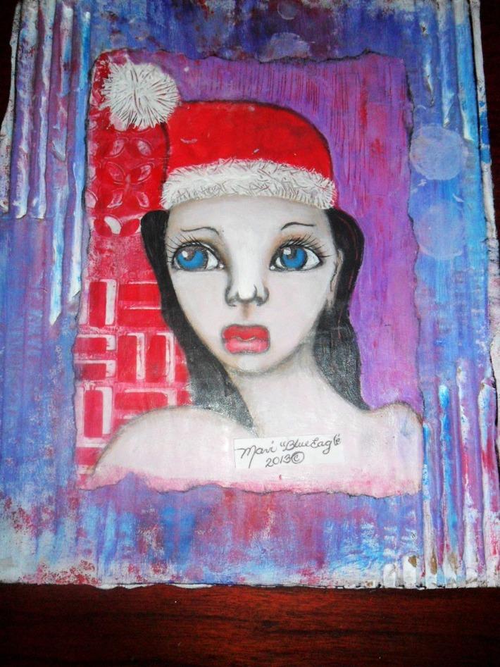 Week 4-Ghost girl- Waiting for Santa!!!  HO HO HO!