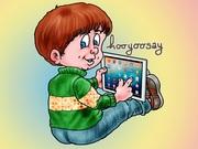 The happy Googly Goo kid