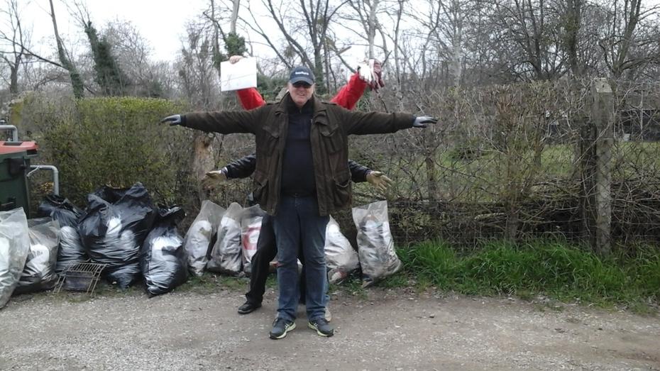 Müll im Schutzgebiet Zieselweg Schilloch