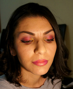 Pink Orchid inspired makeup look