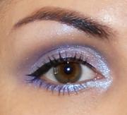 Shimmery Purple Eyelook