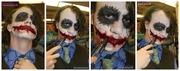 #SPFX #Joker #Makeup & #Custom #Joker #Dress #shirt by @samanthawpgcom
