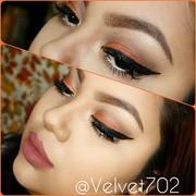 Orange Fall Makeup