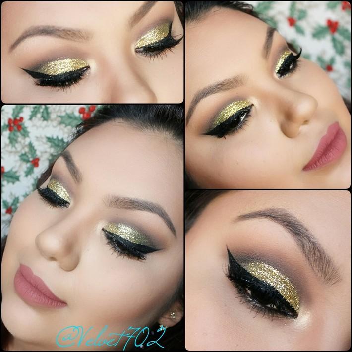 Glitter Holiday Makeup