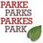 Parks/Parke/Park/Parkes …