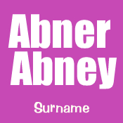 Abner or Abney Surname