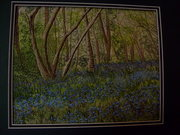 bluebells threadpainting
