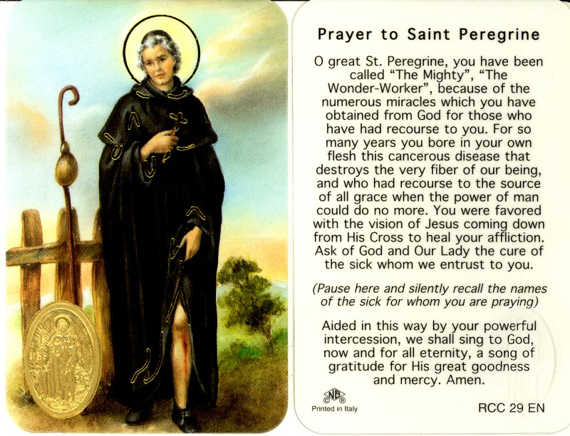 NOVENA TO ST. PEREGRINE (PATRON OF THOSE SUFFERING WITH CANCER ...