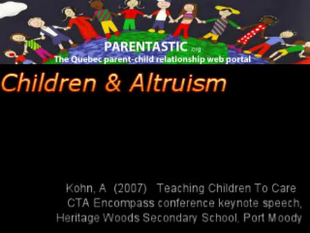 Alfie Kohn - Children and altruism