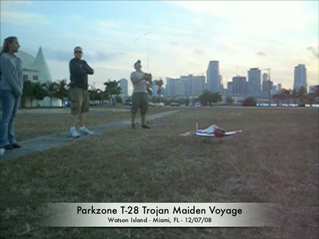 RC Plane Maiden Flight - Downtown Miami