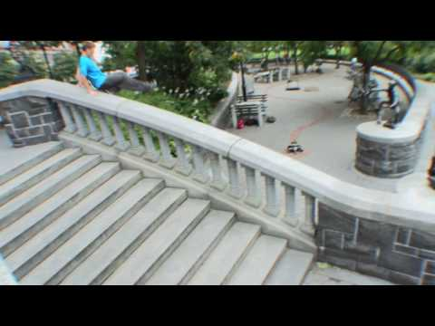 A Short Parkour Sequence In Battery Park