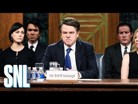 Matt Damon Plays Brett Kavanaugh in 'S.N.L.' Season Premiere